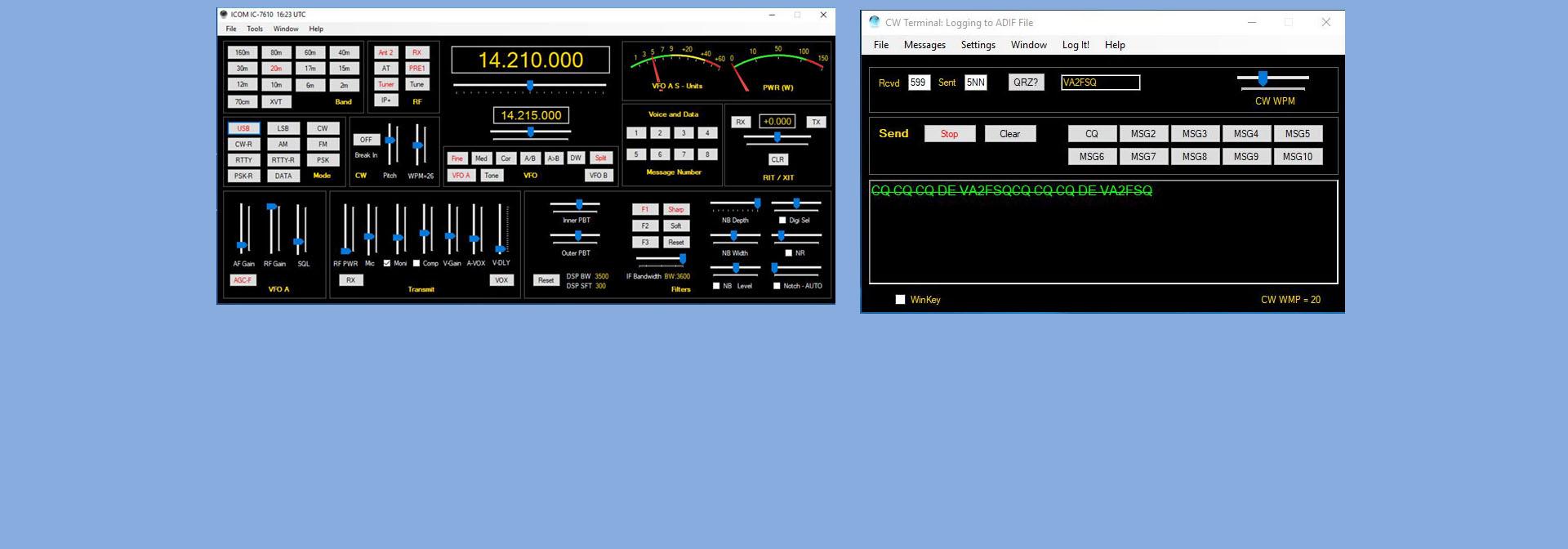 CW Terminal - Win4IcomSuite for Icom Radios